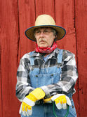 Vertical portrait of farm hand — Stockfoto