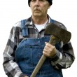 Stock Photo: Lumberjack portrait isolated
