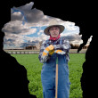 Wisconsin farming — Stock Photo
