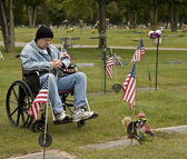 Disabled american veteran — Stock Photo