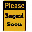 Please respond sign isolated — Stock Photo #4116968