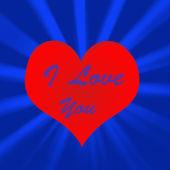 I love you heart illustration — Stock Photo