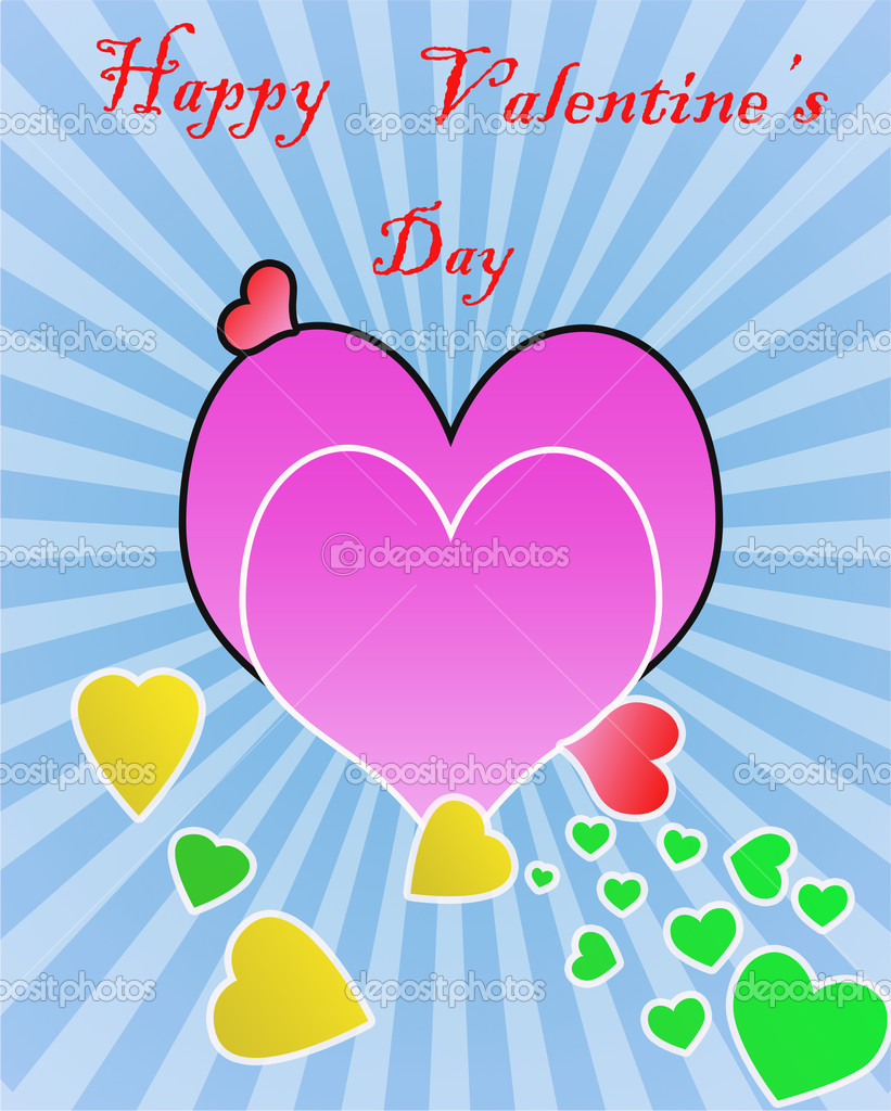Happy valentine's day background with copy space in hearts — Stock Photo #4699678