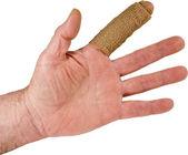 Mano dedo índice lesiones aisladas — Foto de Stock