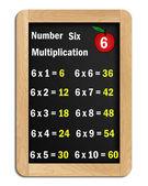 Blackboard multiplication tables of #6 — ストック写真