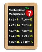 Multiplikationstabellen för nummer 7 — Stockfoto