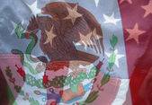 Mexico and USA flags — Stock Photo