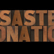Disaster donation — Stock Photo