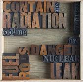 Radiation danger words — Stock Photo