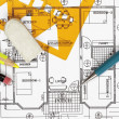 House plan blueprint — Foto Stock