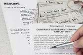 Resume application — Stock Photo