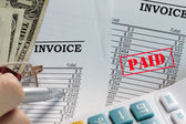 Paid invoice — Stock Photo