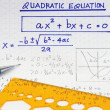 Quadratic equations - Stock Photo