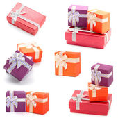 Gift boxes collection — Stock Photo