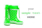 Yeşil lastik çizme — Stok fotoğraf