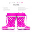 Pink rubber boots — Stock Photo