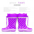 Purple rubber boots — Stock Photo