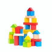 Blocchetti di costruzione in legno — Foto Stock
