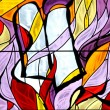 Stock Photo: Moses, stained glass