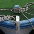 Rope of boat knotting — Stock Photo