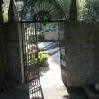 Entrance to the cemetery - Stock Photo
