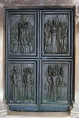 Porta della cattedrale di st james, sibenik — Foto Stock
