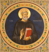 Saint Benedict of Nursia — Stock Photo