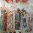 Fresco paintings in the old church — Stock Photo #4996029