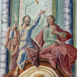 Fresco paintings in the old church — Stock Photo #4996241