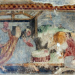 Nativity Scene, Fresco paintings in the old church — Stock Photo