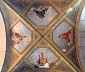 Fresco painting on the ceiling of the church — Stock Photo