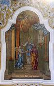 圣母玛利亚的订婚 — 图库照片