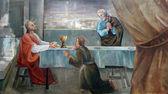 Saint Mary Magdalene wipes the feet of Jesus — Stock Photo