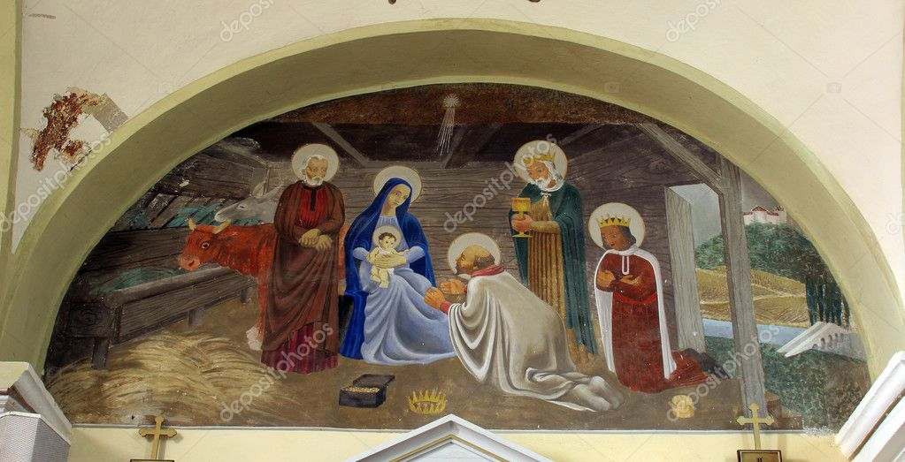 Nativity Scene, Adoration of the Magi — Stock Photo #4994570
