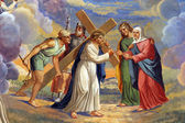 Station of Cross, Jesus meets His Mother — Stockfoto