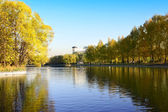 Autumn in city park — Stockfoto