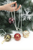 Hanging glass ornament — Stock Photo