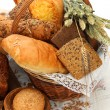 Stock Photo: Bread products in basket
