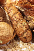 Bread with different seeds — Stock Photo