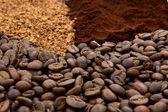 Three coffee types — Stock Photo