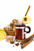Tea and spice-cakes — Stock Photo