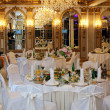 Foto Stock: Table setting at luxury wedding reception