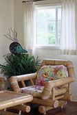 Room interior in tropical resort — Stock Photo