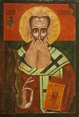 Old Icon of Saint Athanasius of Alexandria — Stock Photo