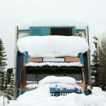 Truck in snow — Stock Photo #4048282