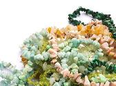 Stone bead necklaces — Stock Photo