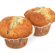 Two English Blueberry Muffins - Stock Photo