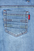 Blue jeans bolso de volta — Fotografia Stock