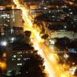 Vedado Quarter in Havana at night, Cuba - Stock Photo