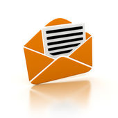 Orange e-mail — Stock Photo